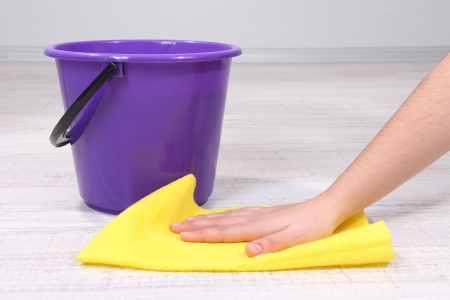 Washing the floor and all floor cleaning Stock Photo - 20653076