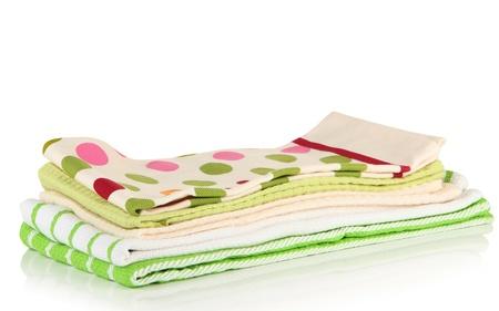 dishtowel: Kitchen towels isolated on white