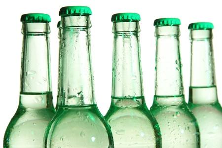 bottleneck: Water bottles close up Stock Photo
