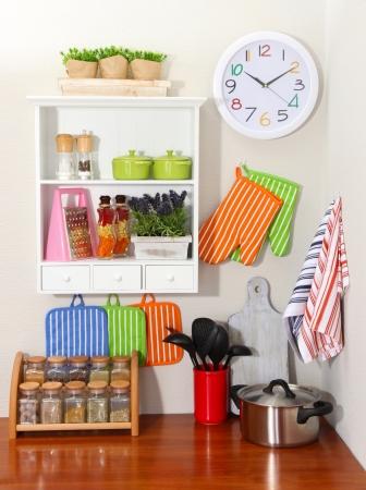 utensilios de cocina: Interior de la cocina Hermosa