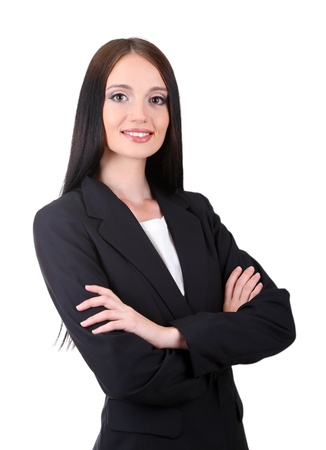 Young business woman, isolated on white Stock Photo - 21527867
