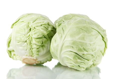 Cabbage isolated on white Stock Photo