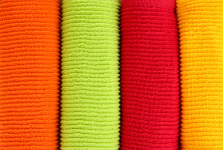 Colorful towels close-up background Stock Photo - 20965097