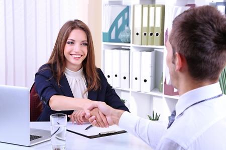 interview: Job applicant having interview