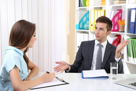 applicant: Job applicant having interview