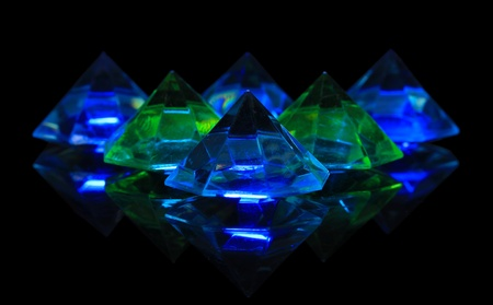 Diamonds on dark color background Stock Photo - 21092835
