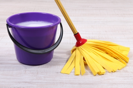Washing the floor and all floor cleaning Stock Photo - 21255047