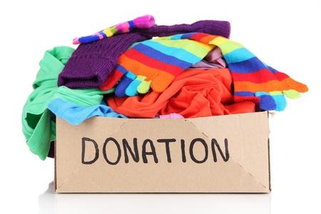 Donation Box isoliert auf weiß Standard-Bild - 21335615