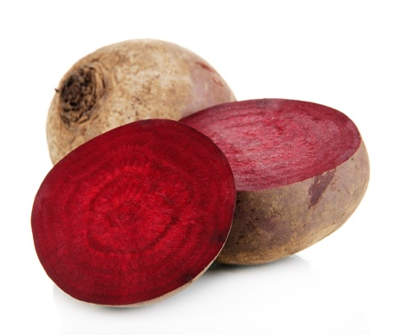 Beetroots isolated on white