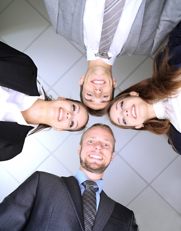 Business team working together in office close up photo