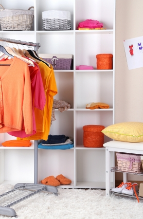 Women wardrobe in sunny colors photo