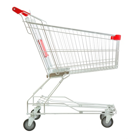 Shopping cart, isolated on white Stock Photo
