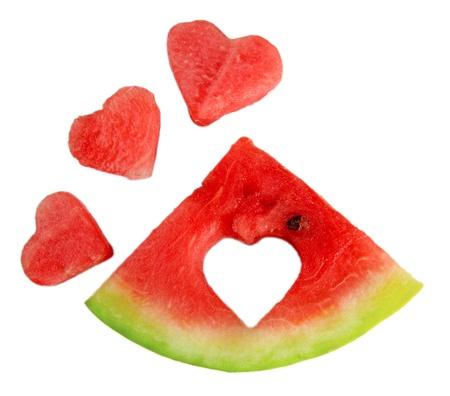 Fresh ripe watermelon, isolated on white photo