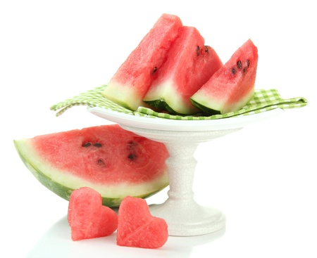 Fresh watermelon isolated on white photo