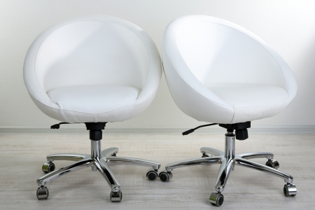 White chair in office photo