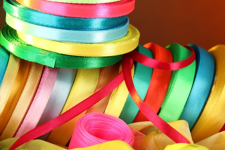 Bright ribbons close-up Stock Photo - 22089445