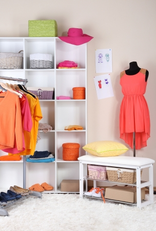 Women wardrobe in sunny colors photo