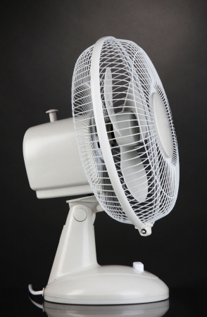electric grid: Electric fan on grey background
