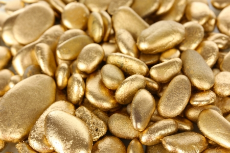 tough luck: Golden stones close-up