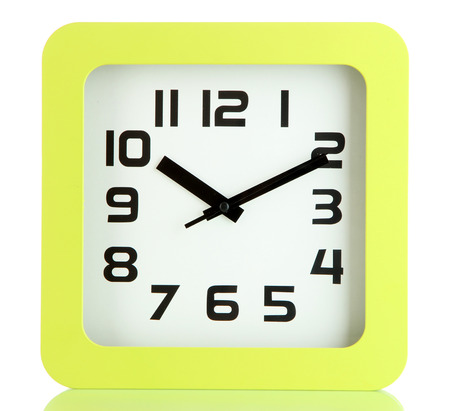 Office clock, isolated on white Stock Photo