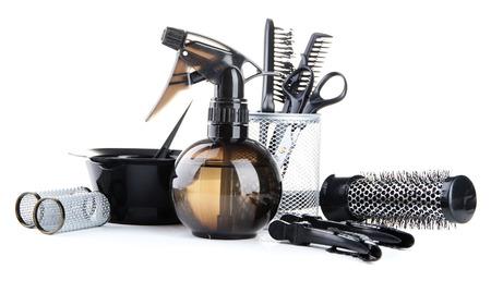 Outils de coiffeur professionnel, isol� sur blanc