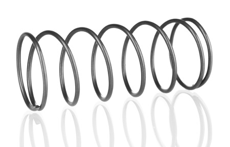 Coil spring isolated on white photo