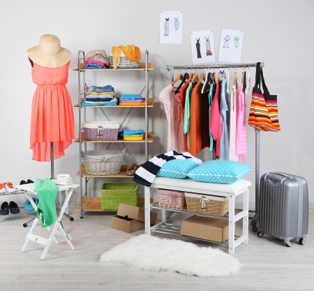 rack: Women wardrobe