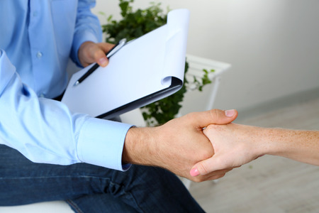 counseling: Handshake during counseling Stock Photo