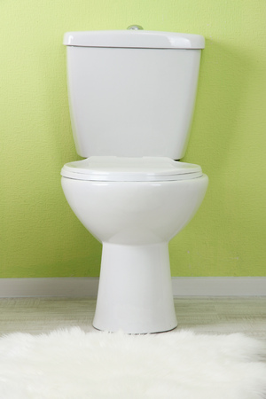White toilet bowl in a bathroom Stock Photo - 22690601