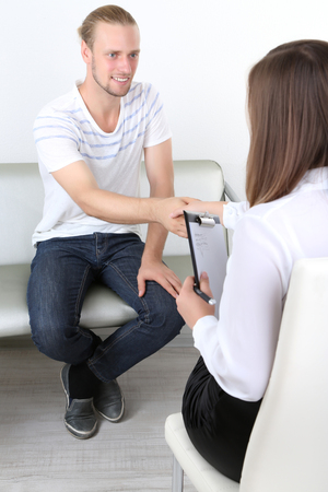 Handshake during counseling photo