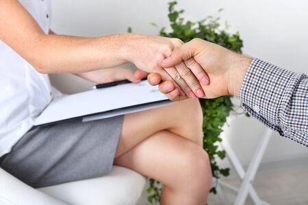 Handshake during counseling photo