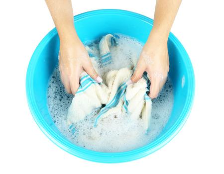 laver main: Lavage � la main isol� sur blanc