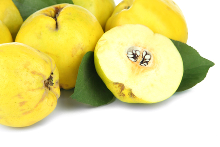 Sweet quinces isolated on white photo