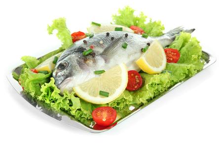 Dorado fish isolated on white photo