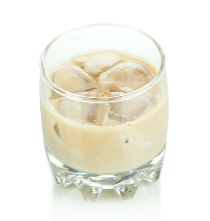 baileys: Baileys liqueur in glass isolated on white Stock Photo