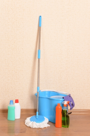 House cleaning equipment with  mop Stock Photo - 23943631