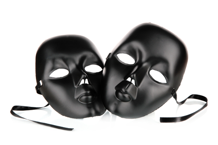Masks isolated on white photo