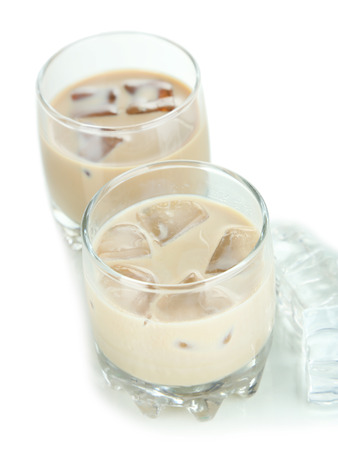 baileys: Baileys liqueur in glasses isolated on white