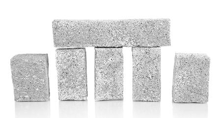 establishes: Building blocks isolated on white