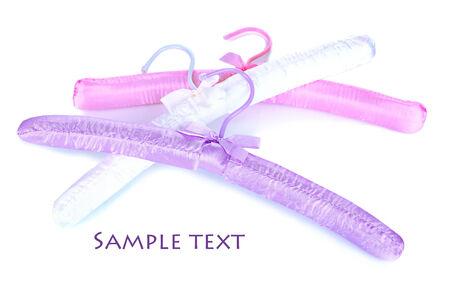clotheshanger: Beautiful hangers isolated on white