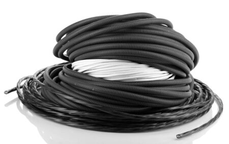 conductivity: Cable isolated on white