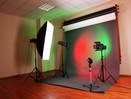 photo studio with lighting equipment Stock Photo - 25063867