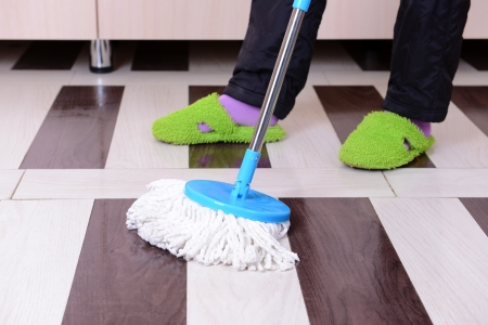 House cleaning with  mop Stock Photo - 25334856