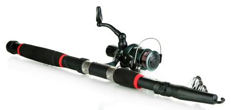 ardour: Fishing rod isolated on white