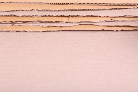 Cardboard for recycling close-up photo