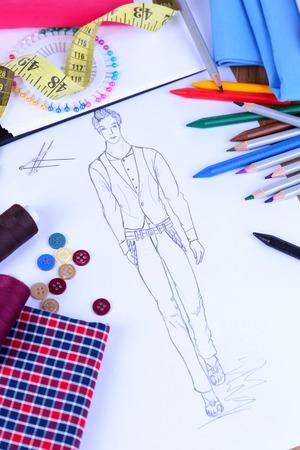 Fashion designer close up photo