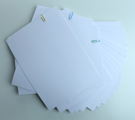 printed material: White paper close up