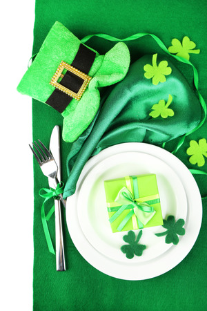 Table setting for St Patricks Day photo
