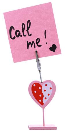 Message holder isolated on white photo