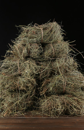 Hay, on dark background photo